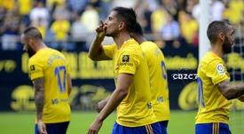 Marcos Mauro no estará ante el Lugo. Twitter/Cadiz_CF