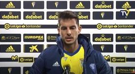 Marcos Mauro reconoció el buen hacer de la Real Sociedad. Captura/CadizCF