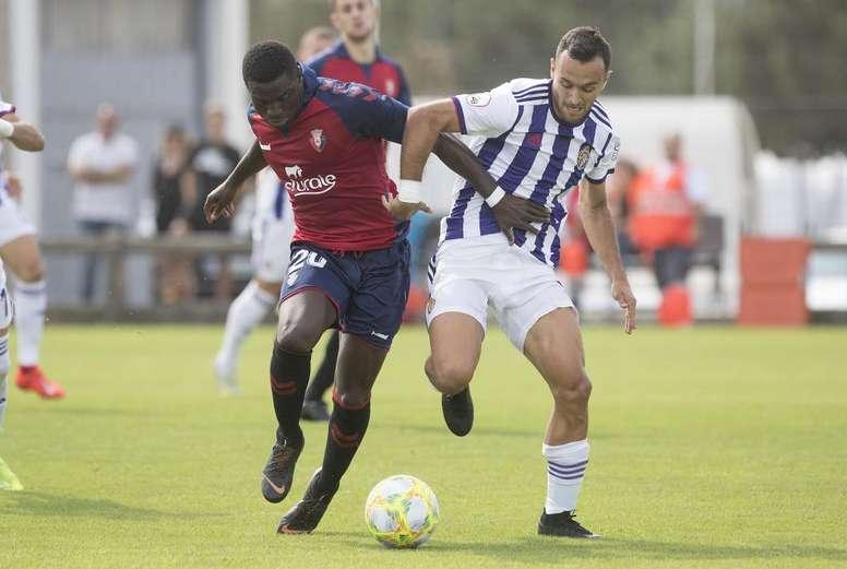 Osasuna venció al Valladolid en este duelo de filiales. Twitter/RealValladolid
