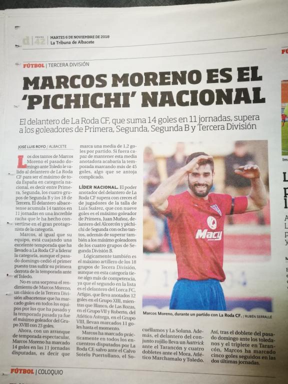 Héroe del fútbol español.