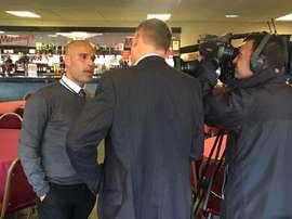 Marcus Bignot, en su presentación como nuevo entrenador del Grimsby Town. OfficialGTFC