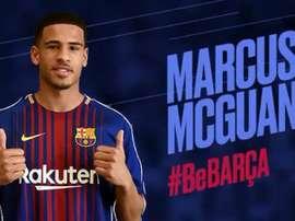 Marcus McGuane, nouveau renfort de la filiale du Barça. capture/FCBarcelonaB