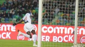 Marega fez o primeiro gol do clássico entre Porto e Sporting. Twitter @FCPorto