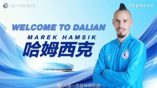 Hamsik, en Chine. DalianYFC