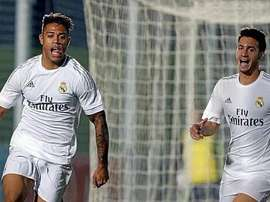 Mariano, celebrando un tanto con el Real Madrid Castilla. Twitter