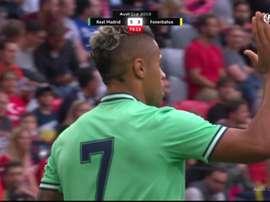 Mariano a inscrit le cinquième but de Madrid en contre. Capture/FOXSports