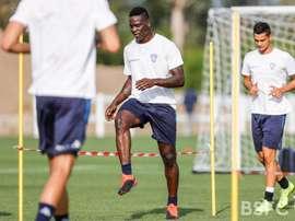 Balotelli a été exclu de l'entraînement par Fabio Grosso. Twitter/BresciaOfficial