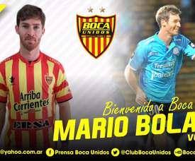 El centrocampista ya luce los colores de Boca Unidos. BocaUnidos