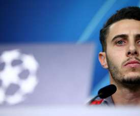 Mario Hermoso spoke ahead of the match with Leverkusen. Twitter/Atleti