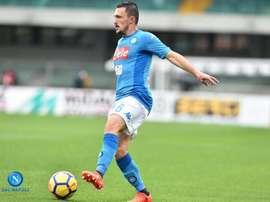 Mário Rui afirmou-se nos 'partenopei', depois da grave lesão de Ghoulam. Twitter/Napoli