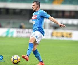 O lateral esquerdo tem-se afirmado no Napoli. Twitter/Napoli