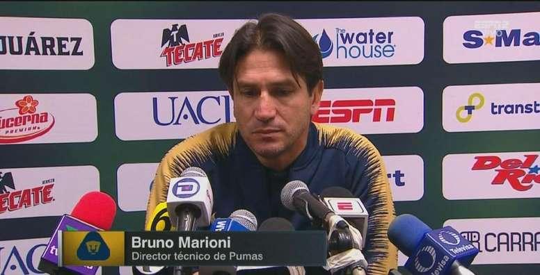 Marioni se encaró con un aficionado. Captura/ESPN
