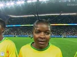 Así luce el peinado de Marjory Nyaumwe de Zimbabwe. ¡No se puede ser más original! BBC