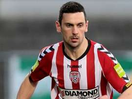 Mark Farren during a match for Derry City. Twitter