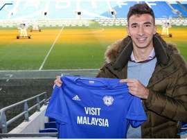 Grujic has joined Cardiff City on a loan deal to the end of the season. Twitter/CardiffCityFC