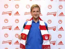 El futbolista llega a Grecia dispuesto a hacerse un hueco en su nuevo club. Olympiakos