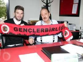Marko Milinkovic, en su presentación como nuevo jugador del Gençlerbirligi turco. Genclerbirligi