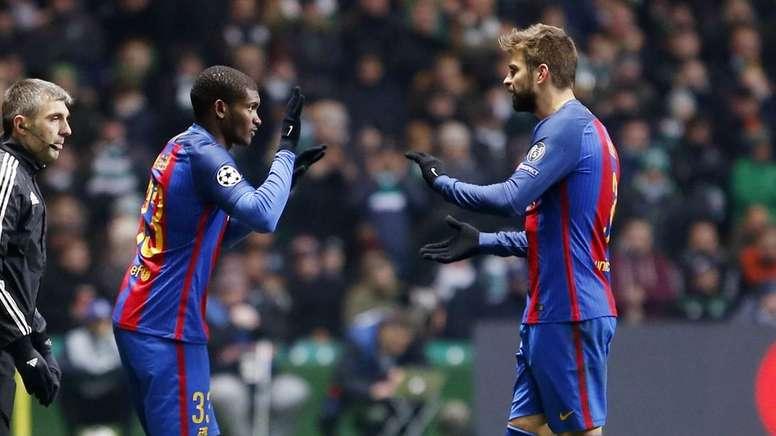 Marlon ha sido el último jugador del filial en debutar con 'Lucho' en partido oficial. FCBarcelona