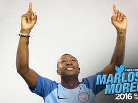 Marlos Moreno, nouveau joueur du Manchester City. MCFC