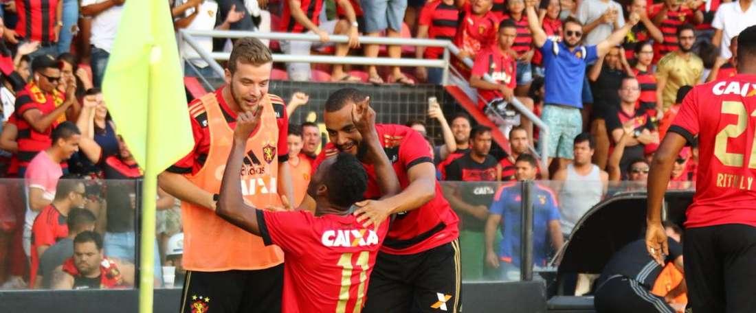 Celebra Marquinhos um gol muito importante para o 'Leão da Ilha'. Twitter/sportrecife