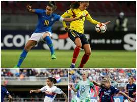 Marta, Hegerberg and Marozsan up for the FIFA women's 'The Best' award. AFP/EFE