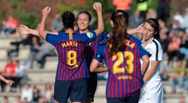 El Barcelona ya iba ganando 4-0 en el minuto 17. FCBarcelonaFemení