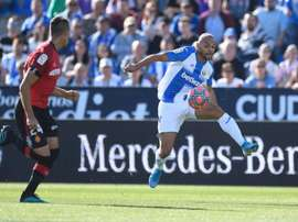 Leganes will not negotiate with Barca for Braithwaite. Twitter/CDLeganes