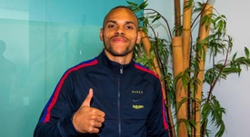 Braithwaite ya ejerce como jugador del Barça. FCBarcelona