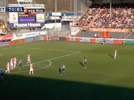 Le but incroyable du jeune Norvégien. Capture/FoxSports