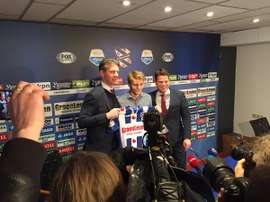 Martin Odegaard being presented by the Dutch club. Hereenveen