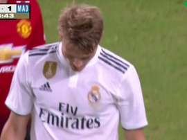 Odegaard was substituted on his debut for Real Madrid against Manchester United. beINSports
