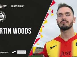 Woods arbore déjà les couleurs de son nouveau club. PartickThistle