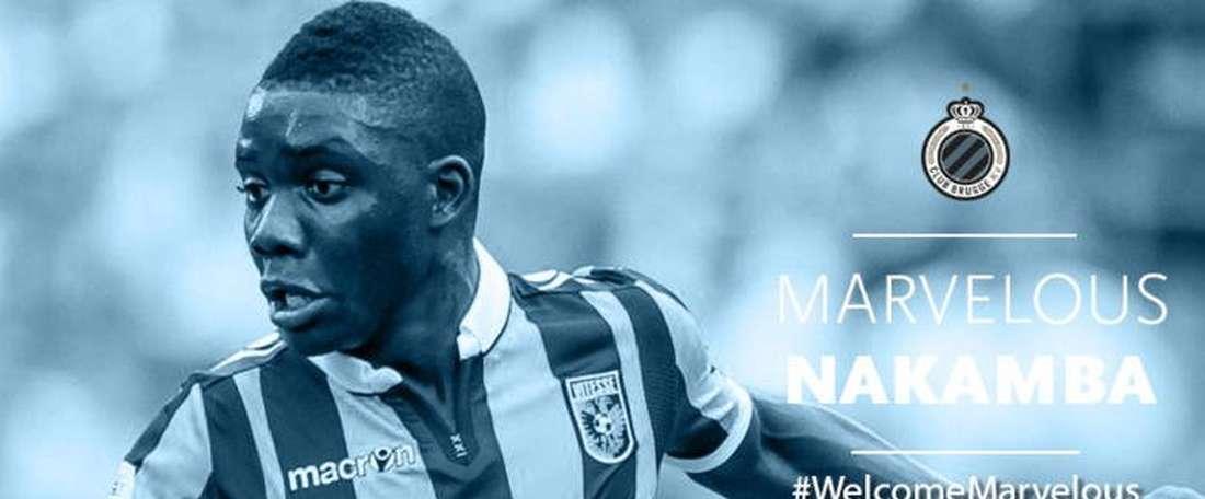 Nakamba rejoint Bruges. Brujas
