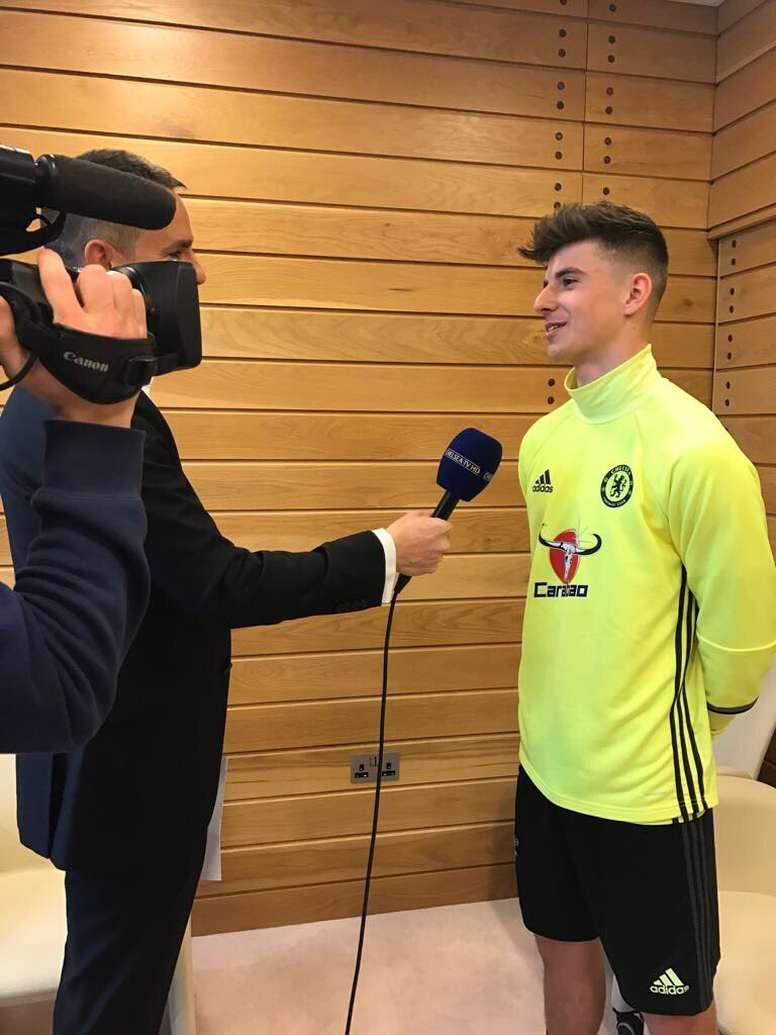 Mount fue uno de los protagonistas de la UEFA Youth League que levantó su club. Chelsea