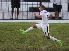 Matheus celebra um dos gols que tem apontado pelo ABC. Andrei Torres/ABC FC
