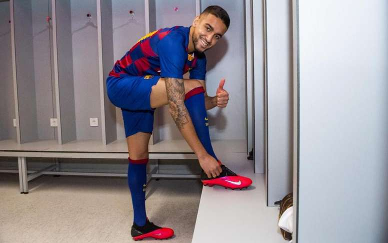 Matheus Pereira podría debutar contra el Sabadell. Twitter/FCBarcelonaB