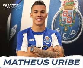 Matheus uribe é o novo reforço do FC Porto. Twitter @FCPorto