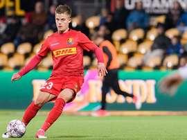 Mathias Jensen se ha comprometido hasta 2023 con el Celta. EFE/Archivo