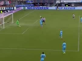 Mathias Pogba marcó de cabeza en el minuto 1 de partido. Youtube
