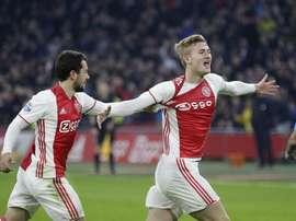 De Ligt resterà all'Ajax a gennaio. Twitter/AFCAjax
