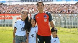 Vidal celebró el regreso de 'Matigol' a Colo Colo. ColoColo
