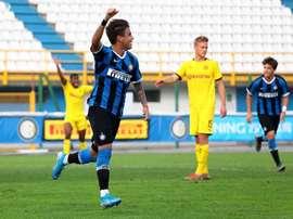 Matías Fonseca a marqué trois buts face à Dortmund. Twitter/Inter