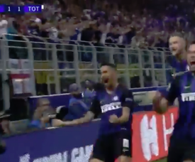 Vecino secured his side all three points. Screenshot/Viasat