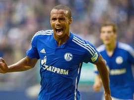 Matip après avoir marqué un but avec Schalke 04. Twitter