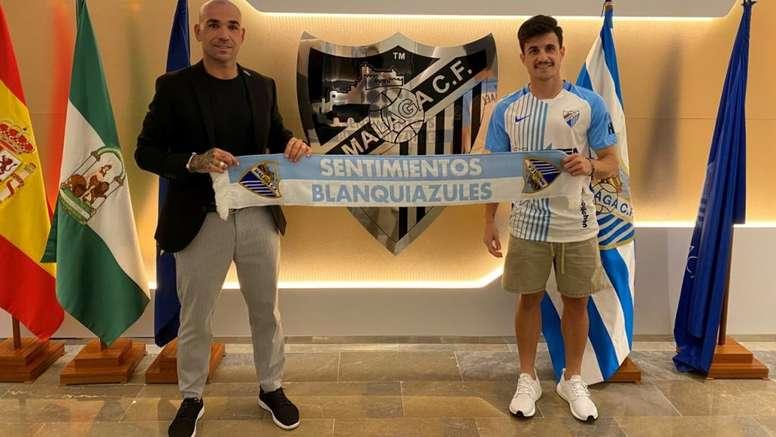 Matos, nuevo jugador del Málaga. Twitter/MalagaCF