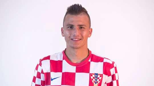 O internacional croata nem chegou a ser apresentado na Luz. Twitter/LechiGdanskSA