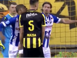 Miazga was been fined by Vitesse for squeezing Dumfries' groin. Youtube