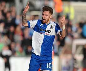 The incident occured at Bristol Rovers' Carabao Cup tie against Crawley. BristolRoversFC