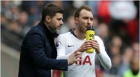 Pochettino confía en que la puerta del Tottenham quede bien cerrada. AFP