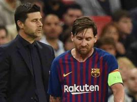 Pochettino encense Messi. EFE